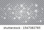set of golden glowing lights... | Shutterstock .eps vector #1567382785