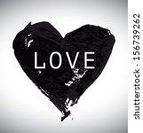 grunge vector hand drawn heart. ... | Shutterstock .eps vector #156739262