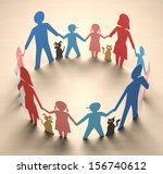 happy family forming a circle...   Shutterstock . vector #156740612