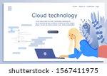 concept of cloud technology ...
