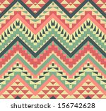 colorful aztec pattern | Shutterstock .eps vector #156742628