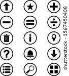 set of 15 basic elements icons...
