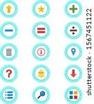 15 set of basic elements icons...