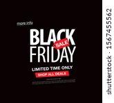 black friday sale banner layout ... | Shutterstock .eps vector #1567455562