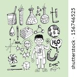 science object in doodle style... | Shutterstock .eps vector #156746525