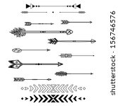 set of vector arrows | Shutterstock .eps vector #156746576