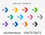 direction number bullet points... | Shutterstock .eps vector #1567513672
