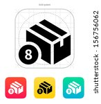 box with number icon. vector...