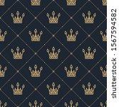 seamless pattern in retro style ... | Shutterstock . vector #1567594582