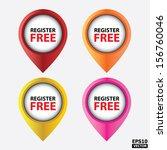 vector   register free icons... | Shutterstock .eps vector #156760046