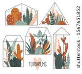 set of geometric glass...   Shutterstock .eps vector #1567651852