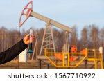 engineer in a white helmet on... | Shutterstock . vector #1567710922