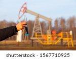 engineer in a white helmet on... | Shutterstock . vector #1567710925
