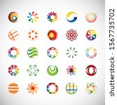 abstract circle icon set....   Shutterstock .eps vector #1567735702