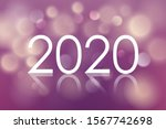 2020 happy new year card with... | Shutterstock .eps vector #1567742698