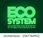 vector bright sign eco system.... | Shutterstock .eps vector #1567764922