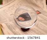 crystal ball on the financial... | Shutterstock . vector #1567841