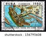cuba   circa 1980  a stamp... | Shutterstock . vector #156795608