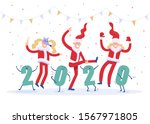 new years corporate party 2020. ... | Shutterstock .eps vector #1567971805