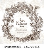 halloween decorative wreath  ... | Shutterstock .eps vector #156798416