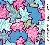 vector colorful freeform shape... | Shutterstock .eps vector #1568025955
