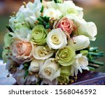 Round Vintage Bridal Bouquet Of ...