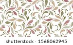 floral seamless background for... | Shutterstock .eps vector #1568062945
