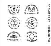 badge honey bee natural product   Shutterstock .eps vector #1568104102
