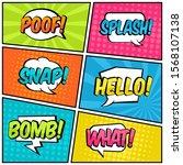 baloon text comic pop art...   Shutterstock .eps vector #1568107138