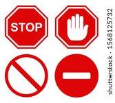 traffic stop icon design. set... | Shutterstock .eps vector #1568125732
