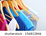 clothes on circle hanger on...   Shutterstock . vector #156812846