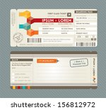 modern boarding pass ticket... | Shutterstock .eps vector #156812972