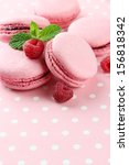 gentle macaroons on table close ... | Shutterstock . vector #156818342
