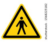 warning type bf applied parts...   Shutterstock .eps vector #1568225182