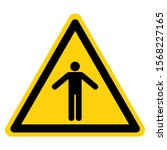 warning do not enter symbol...   Shutterstock .eps vector #1568227165