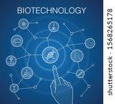 biotechnology concept  blue...