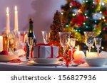 Christmas Table Setting Before...