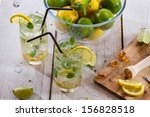 cold drink with fresh citrus... | Shutterstock . vector #156828518
