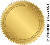 gold labels for promo seals | Shutterstock .eps vector #1568318335