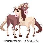 a pair of beautiful horses full ...