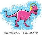 vector illustration of t rex... | Shutterstock .eps vector #156835622