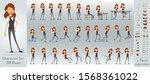 cartoon flat cute funny... | Shutterstock .eps vector #1568361022