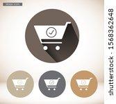 flat checkout icon . lorem...