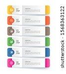6 data infographics tab paper... | Shutterstock .eps vector #1568363122