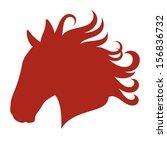 Stock vector head of a horse vector silhouette 156836732