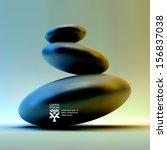 spa stones. vector 3d... | Shutterstock .eps vector #156837038