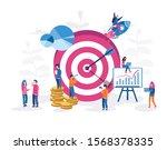 business strategy. budget... | Shutterstock .eps vector #1568378335