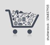 shopping cart web | Shutterstock .eps vector #156837935