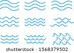 Set Of Line Water Waves Icon ...