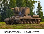 Soviet heavy tank of the times World War II Klim Voroshilov 2